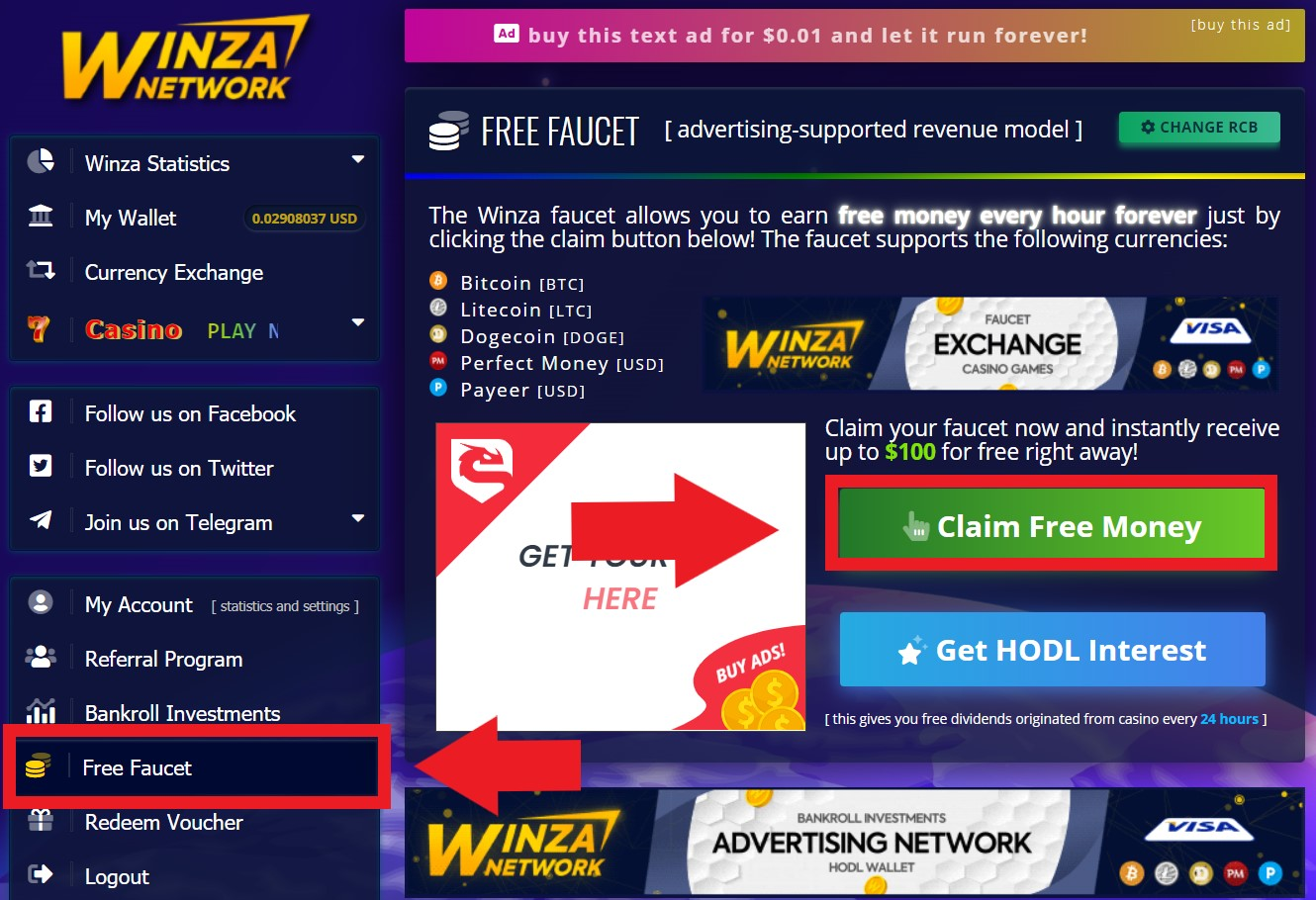 winza faucet