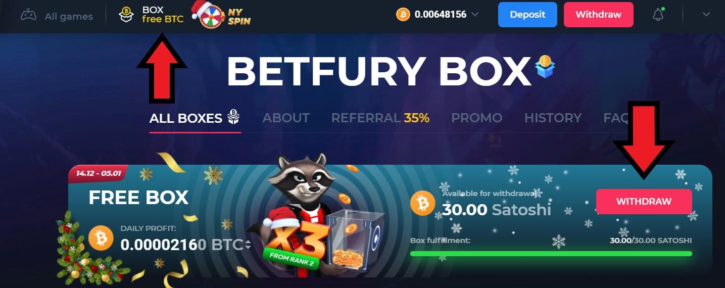 betfury free box