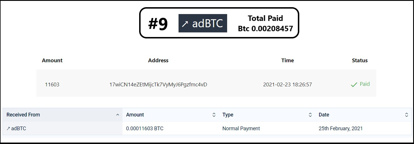 payment from adbtc
