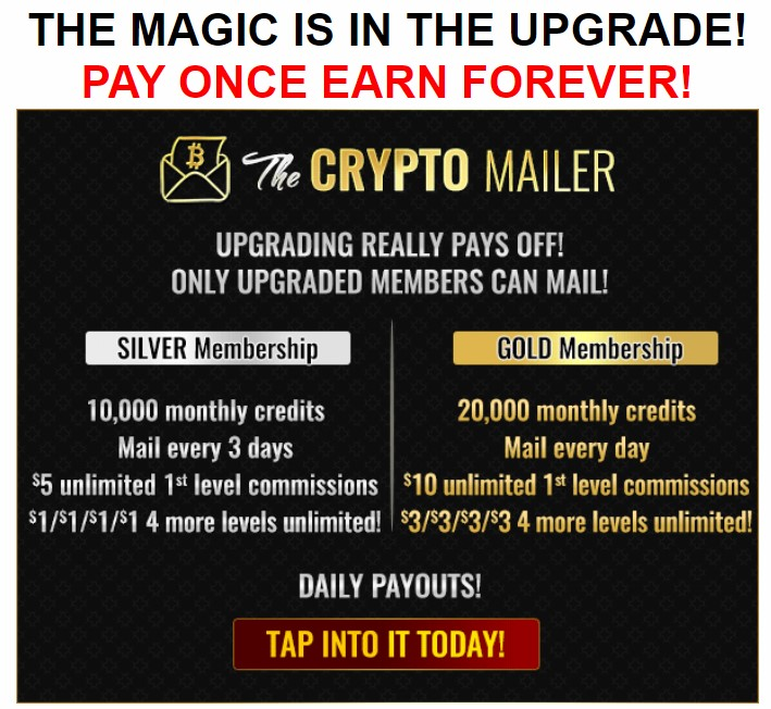 THE CRYPTO MAILER UPGRADE INFO